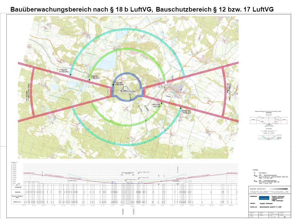 Bauüberwachungsbereich nach § 18 b LuftVG, Bauschutzbereich § 12 bzw