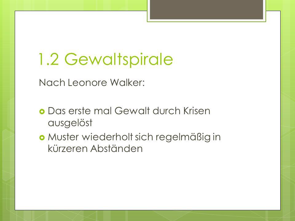 1.2 Gewaltspirale Nach Leonore Walker: