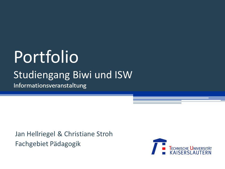 Portfolio Studiengang Biwi und ISW Informationsveranstaltung