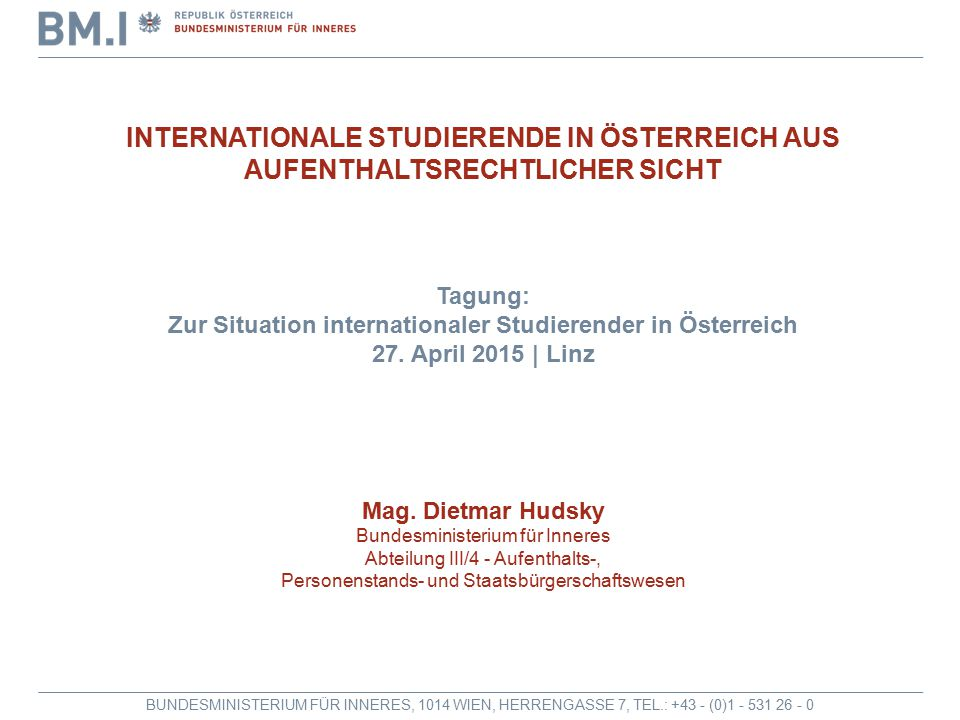 Zur Situation internationaler Studierender in Österreich