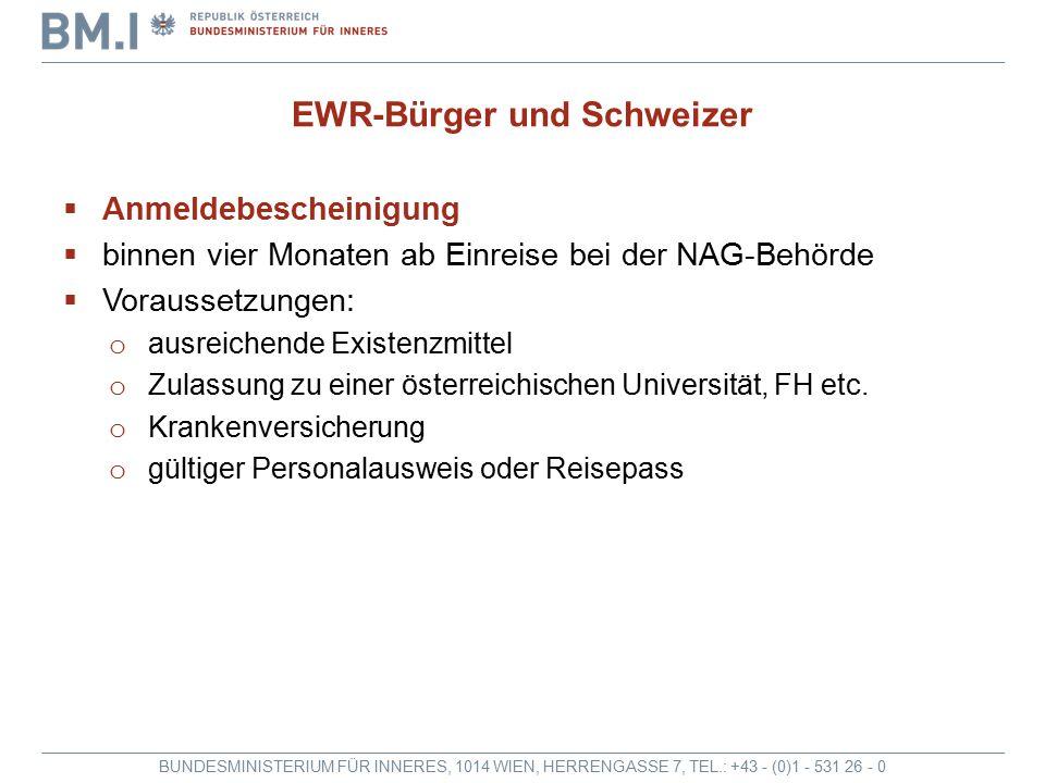 EWR-Bürger und Schweizer