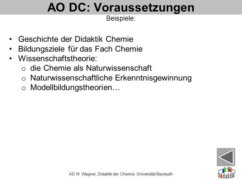 AO DC: Voraussetzungen