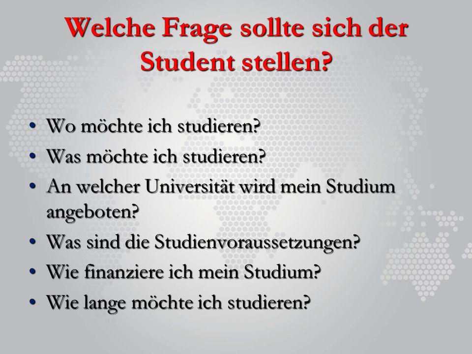 Welche Frage sollte sich der Student stellen