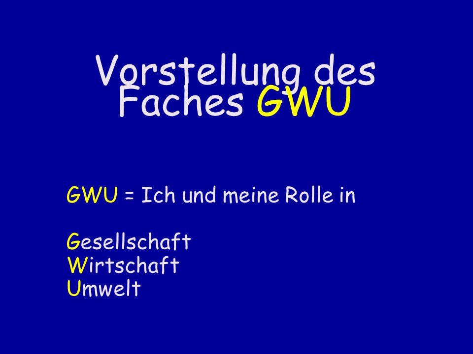 Vorstellung des Faches GWU
