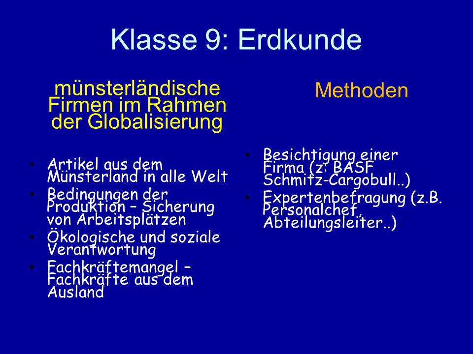 münsterländische Firmen im Rahmen der Globalisierung