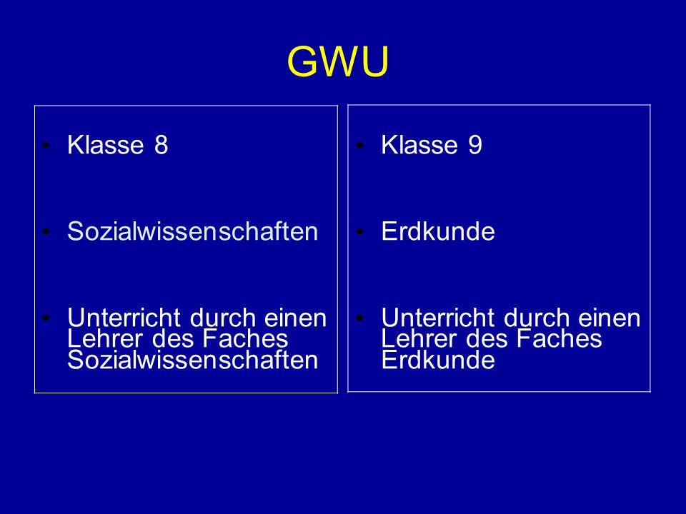 GWU Klasse 8 Sozialwissenschaften