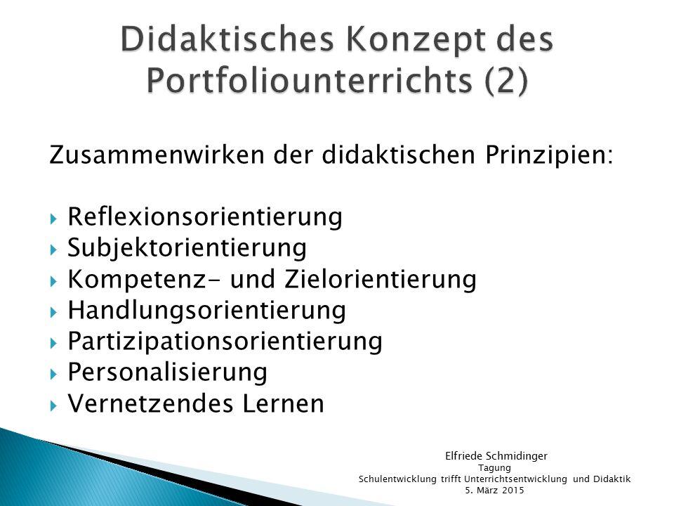 Didaktisches Konzept des Portfoliounterrichts (2)