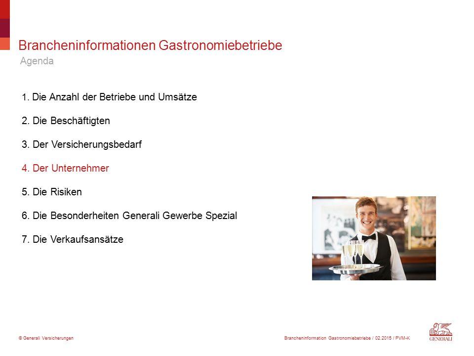 Brancheninformationen Gastronomiebetriebe