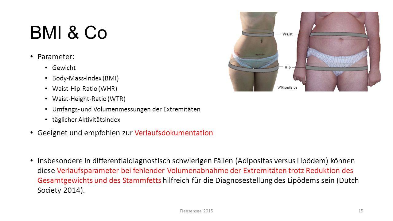 BMI & Co Parameter: Geeignet und empfohlen zur Verlaufsdokumentation