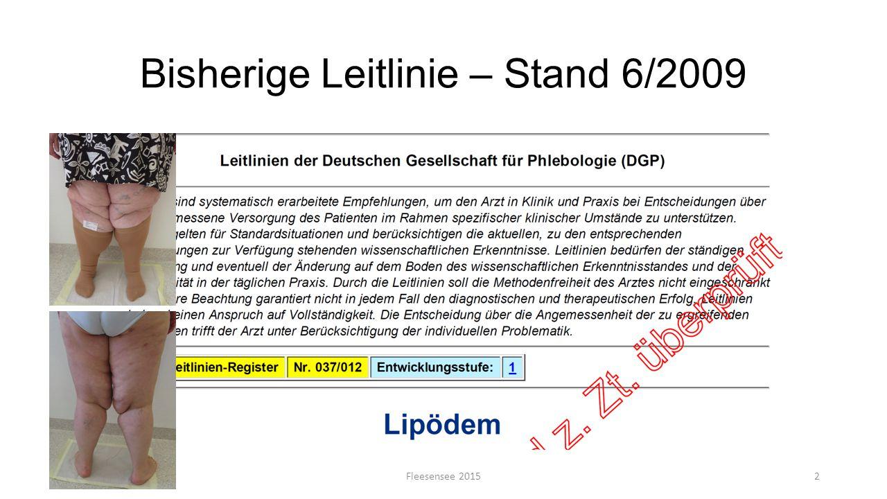 Bisherige Leitlinie – Stand 6/2009