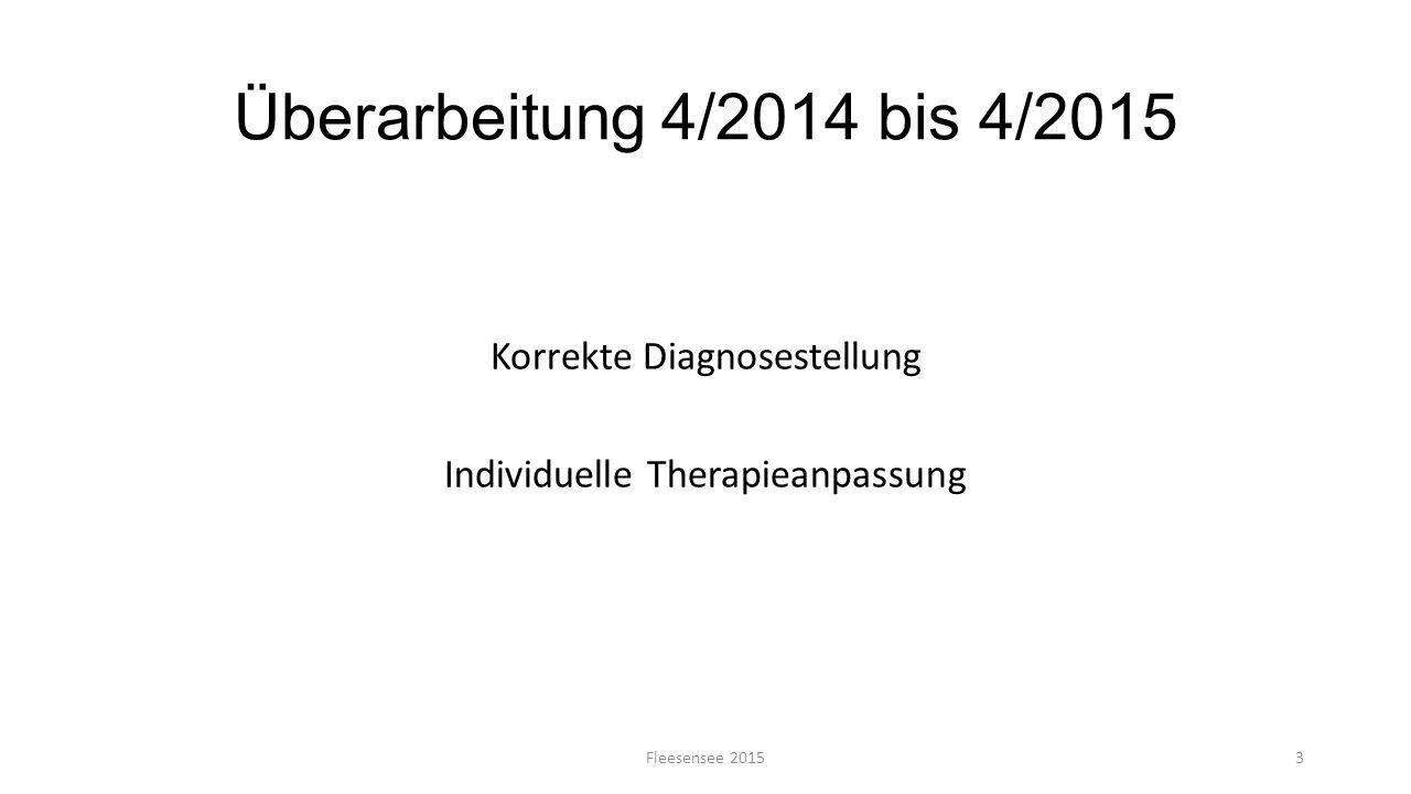 Korrekte Diagnosestellung Individuelle Therapieanpassung