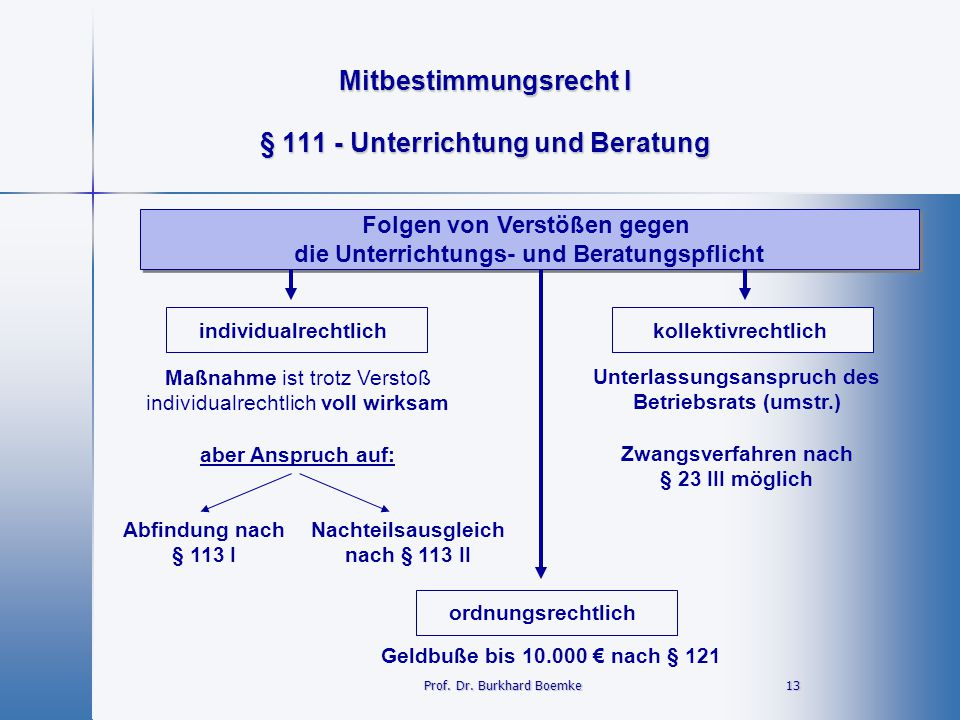 § 111 - Unterrichtung und Beratung