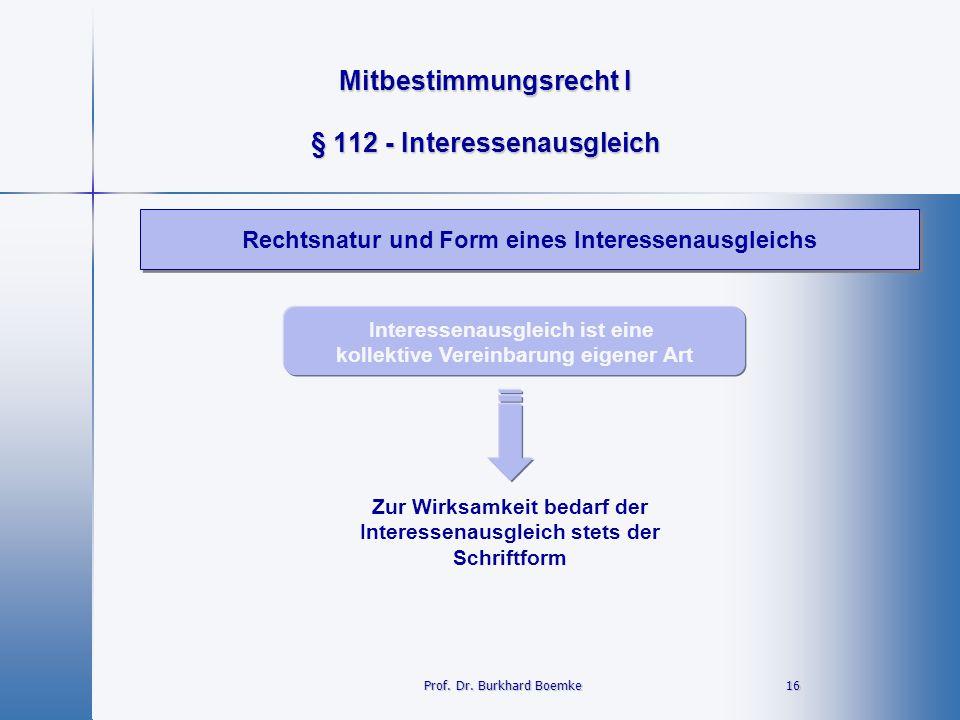 § 112 - Interessenausgleich