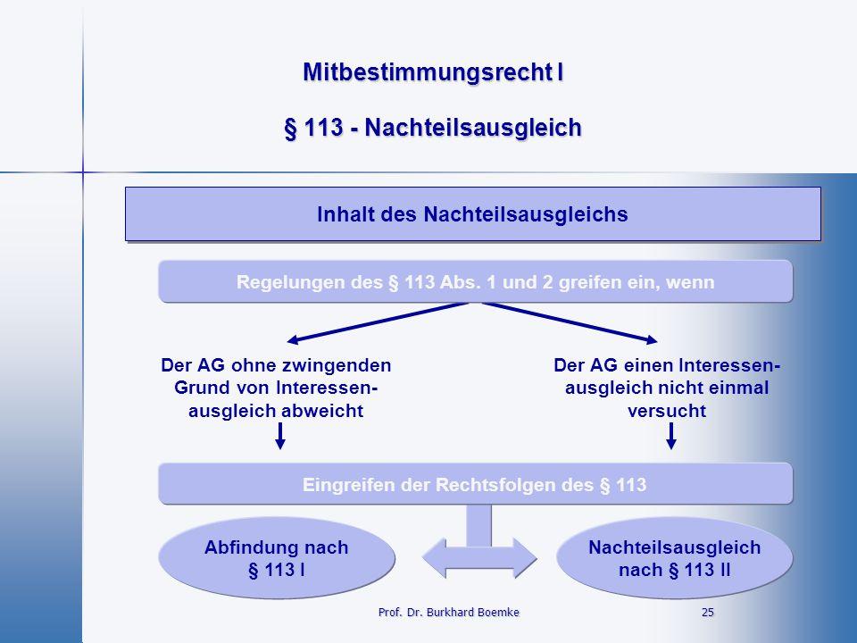 § 113 - Nachteilsausgleich