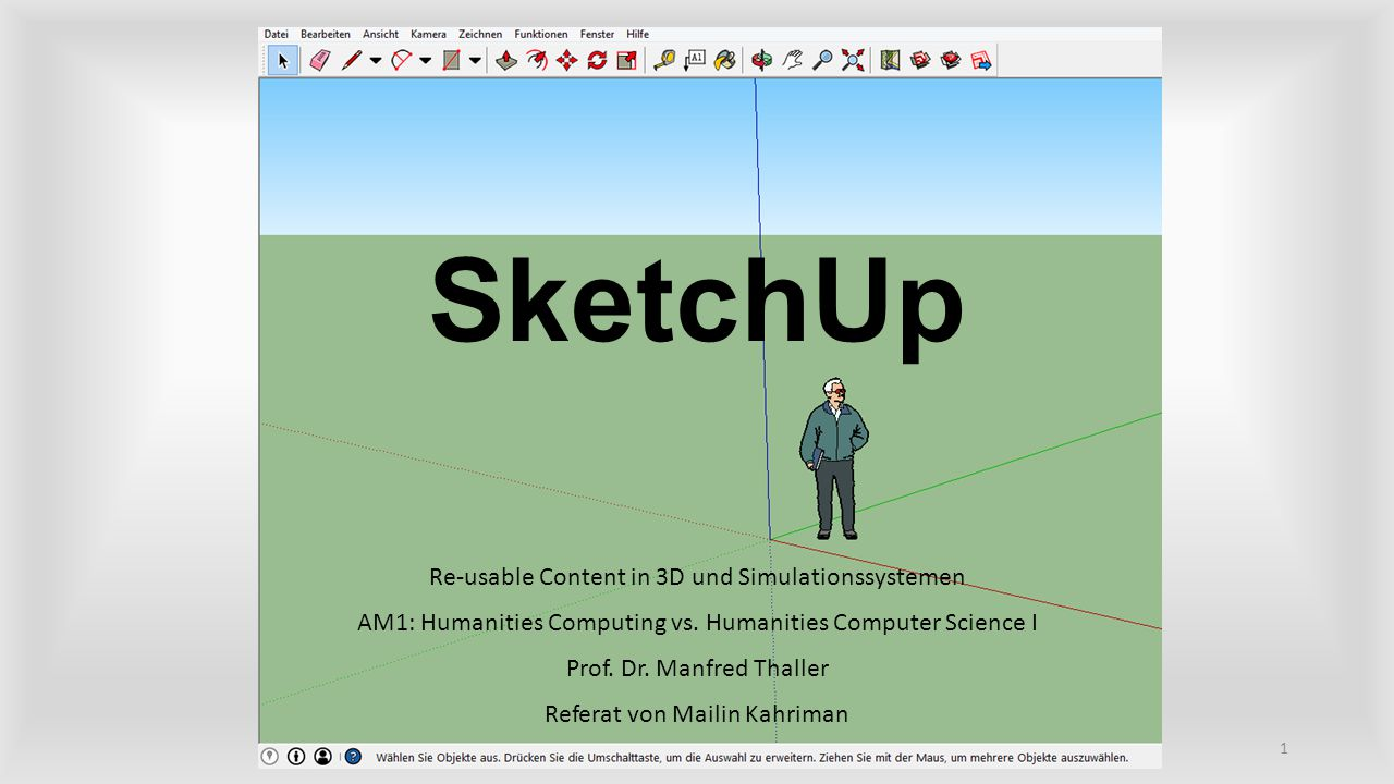 SketchUp Re-usable Content in 3D und Simulationssystemen