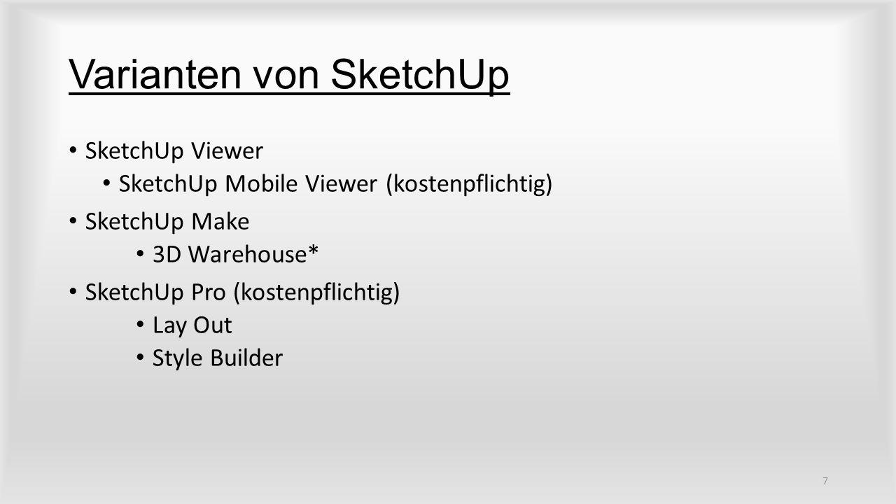Varianten von SketchUp