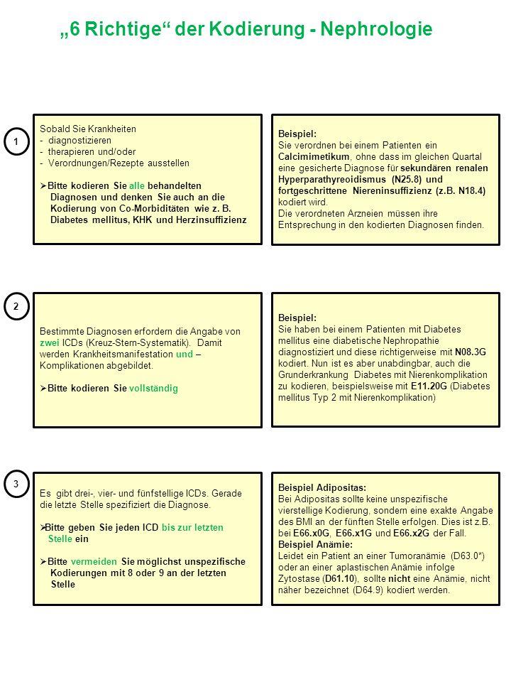 """""""6 Richtige der Kodierung - Nephrologie"""