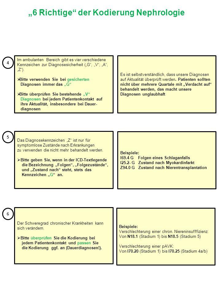 """""""6 Richtige der Kodierung Nephrologie"""