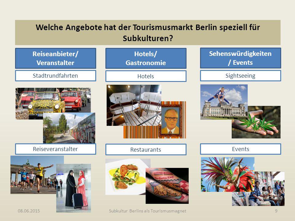 Subkultur Berlins als Tourismusmagnet