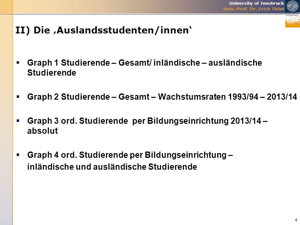 II) Die 'Auslandsstudenten/innen'