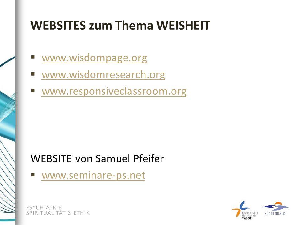 WEBSITES zum Thema WEISHEIT
