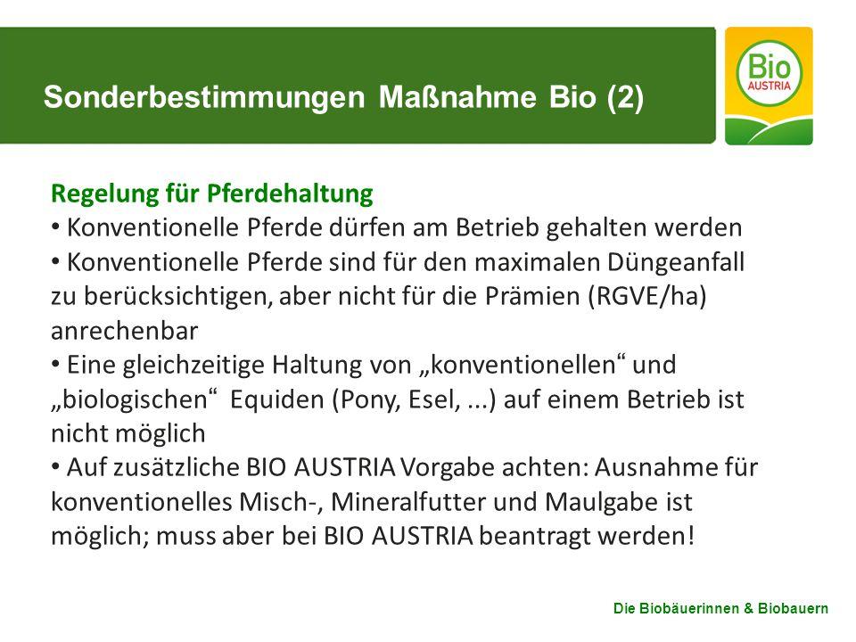 Sonderbestimmungen Maßnahme Bio (2)