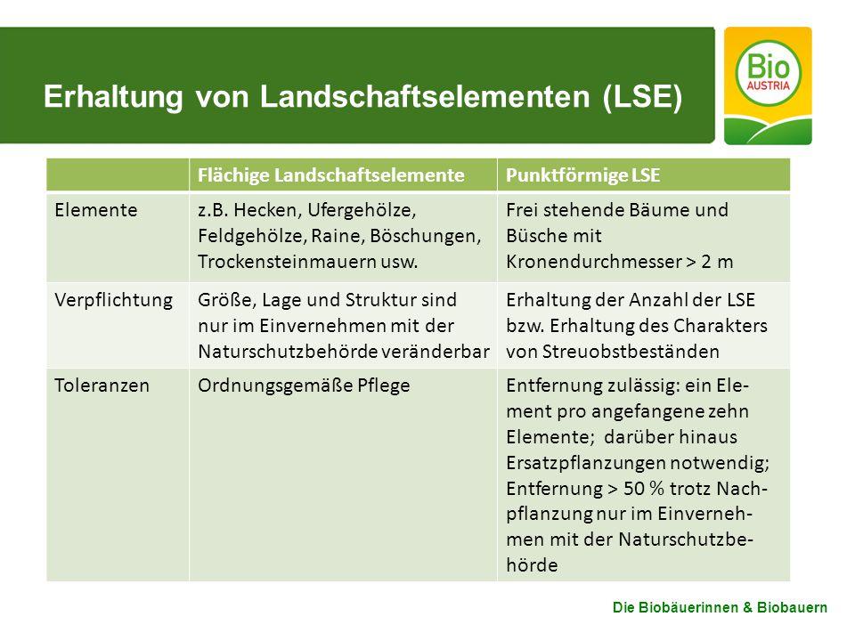 Erhaltung von Landschaftselementen (LSE)