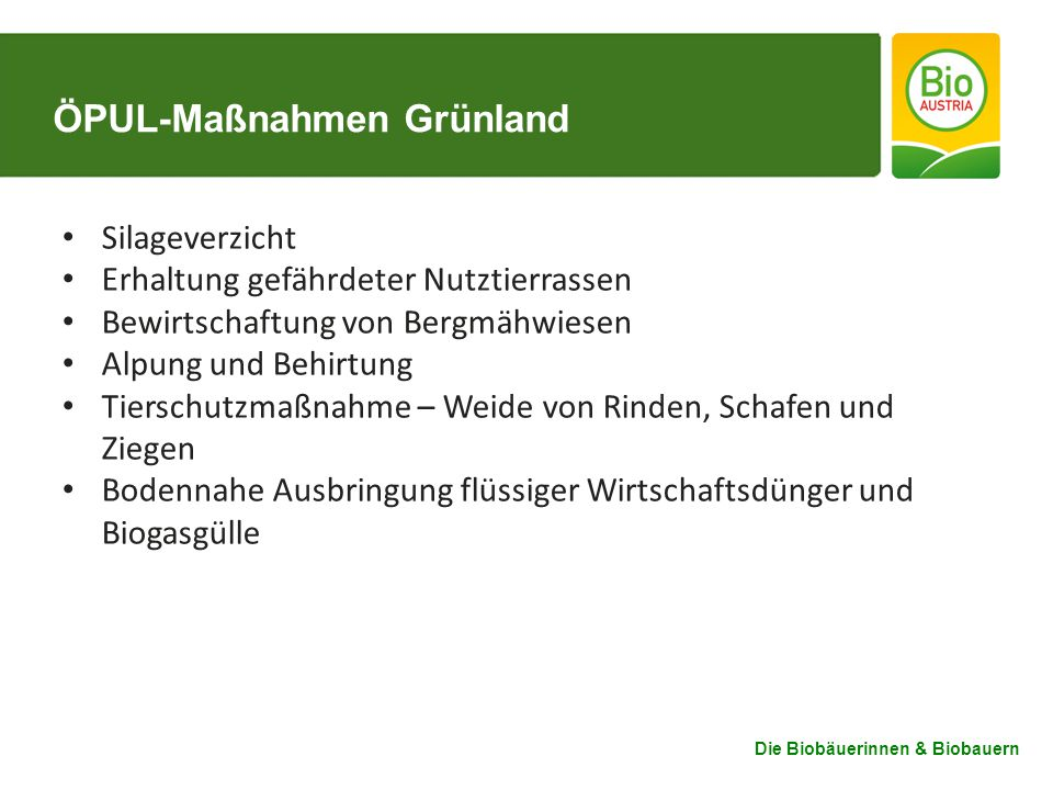 ÖPUL-Maßnahmen Grünland