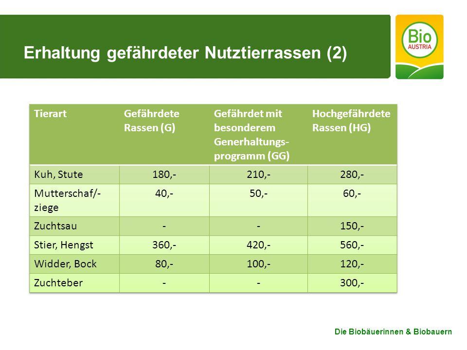 Erhaltung gefährdeter Nutztierrassen (2)