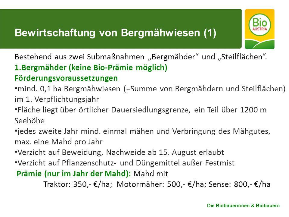 Bewirtschaftung von Bergmähwiesen (1)