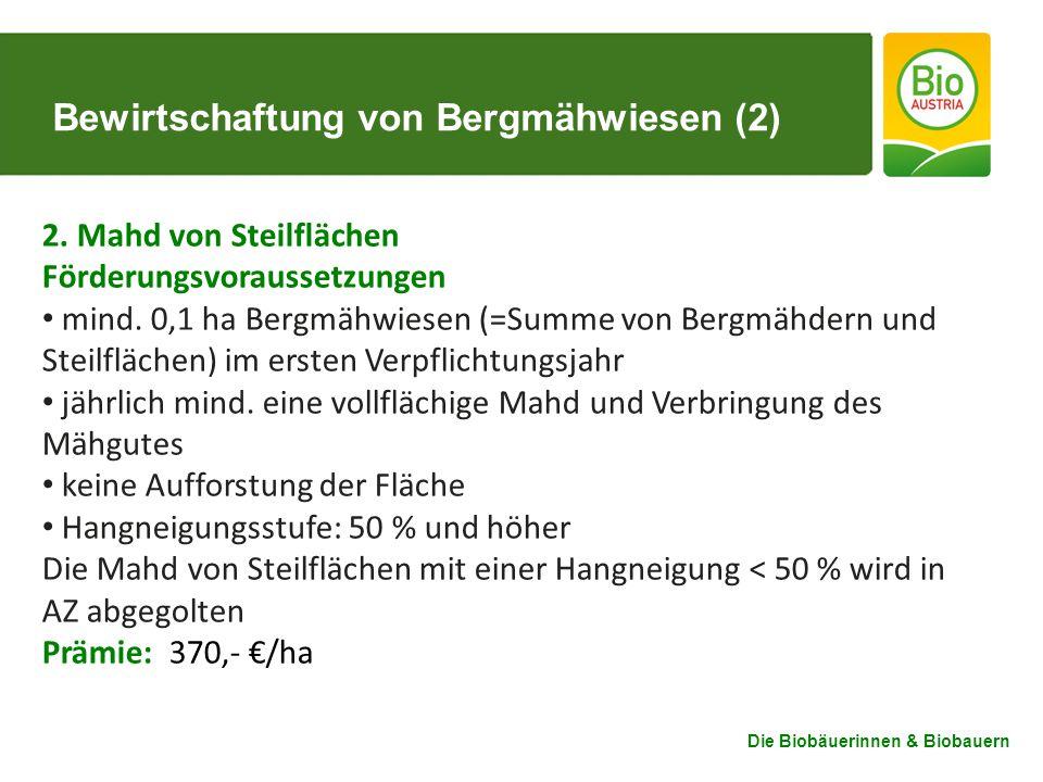 Bewirtschaftung von Bergmähwiesen (2)