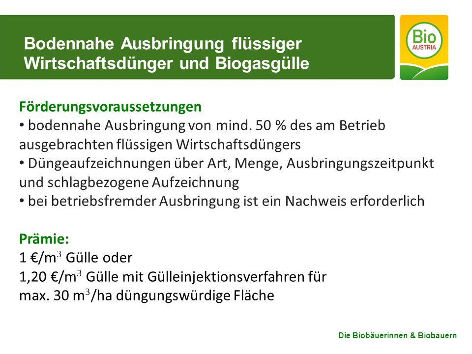 Bodennahe Ausbringung flüssiger Wirtschaftsdünger und Biogasgülle