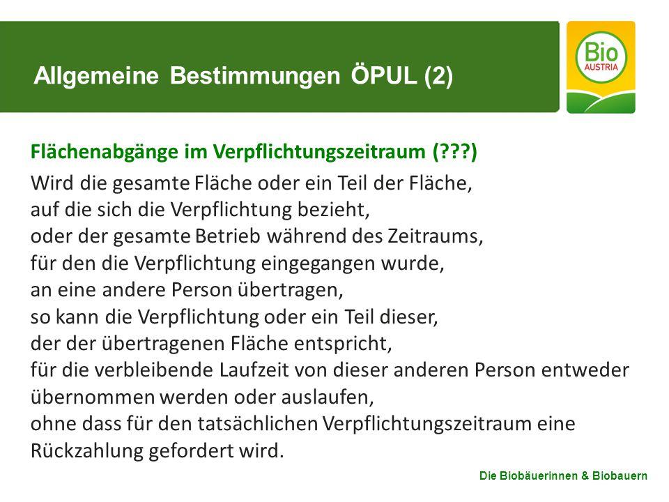Allgemeine Bestimmungen ÖPUL (2)