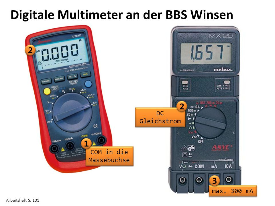 Digitale Multimeter an der BBS Winsen