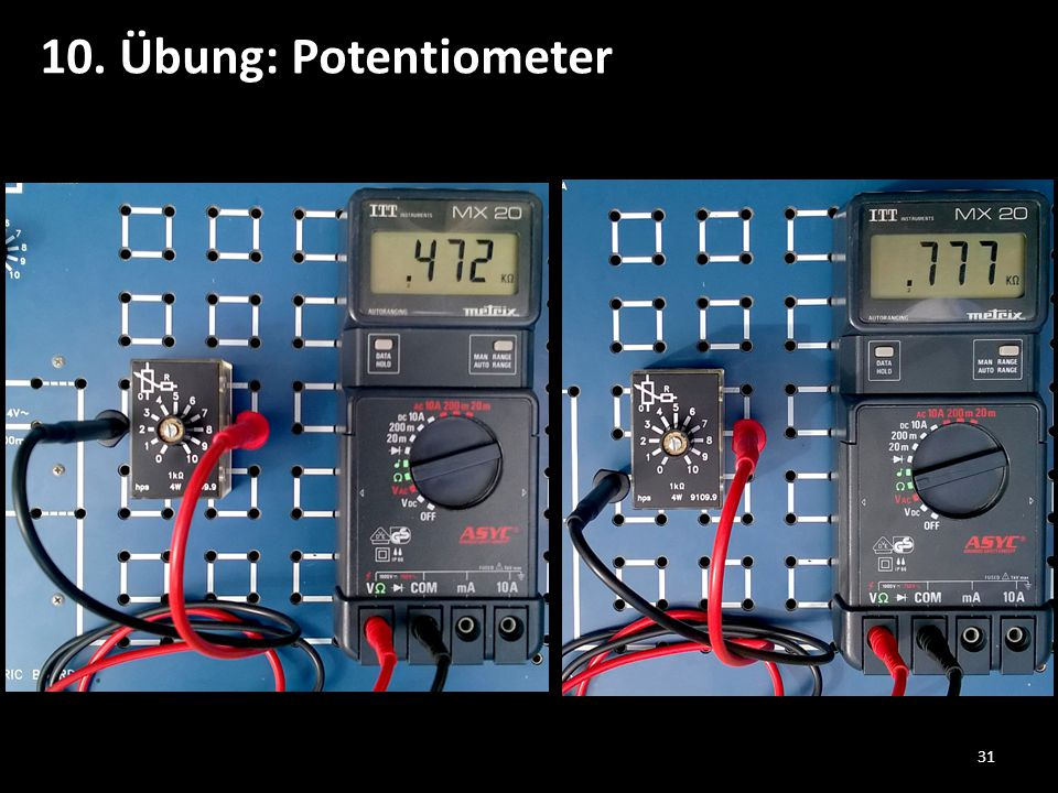 10. Übung: Potentiometer