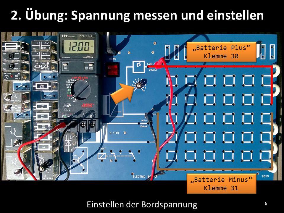 2. Übung: Spannung messen und einstellen