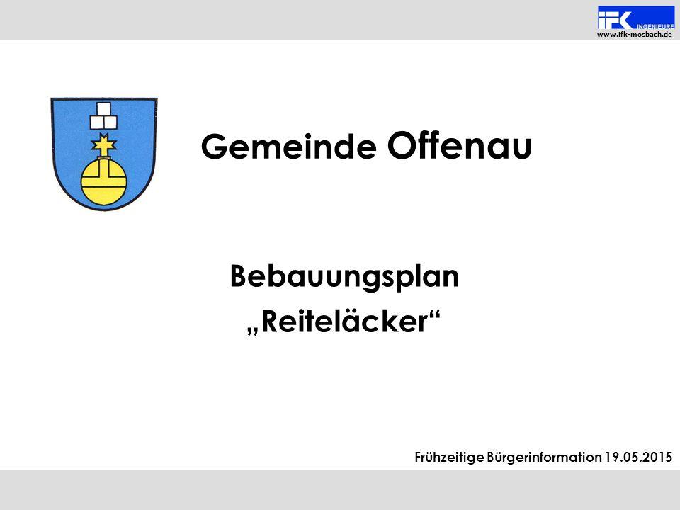 """Bebauungsplan """"Reiteläcker"""