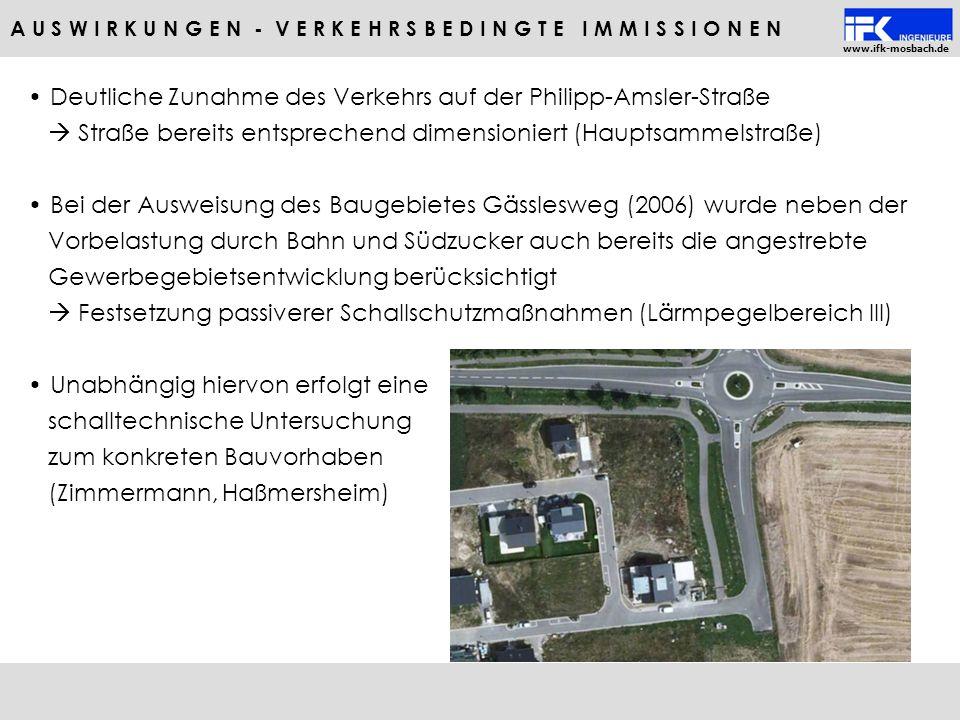 Deutliche Zunahme des Verkehrs auf der Philipp-Amsler-Straße