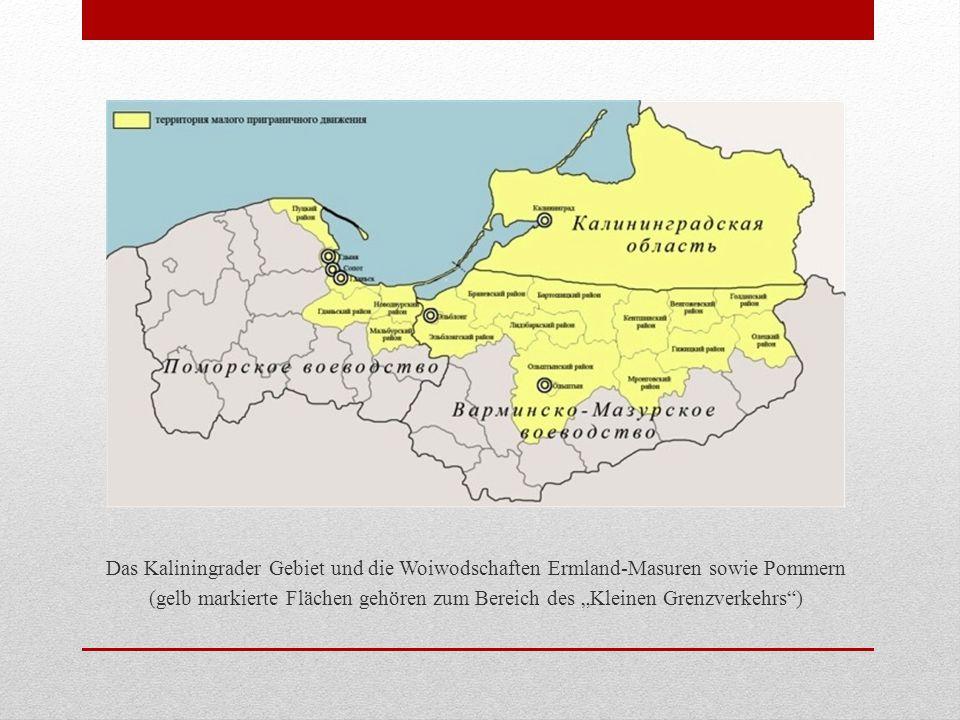 Das Kaliningrader Gebiet und die Woiwodschaften Ermland-Masuren sowie Pommern