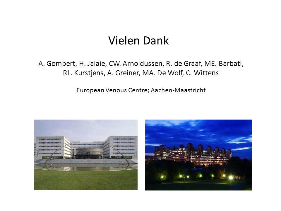 Vielen Dank A. Gombert, H. Jalaie, CW. Arnoldussen, R. de Graaf, ME. Barbati, RL. Kurstjens, A. Greiner, MA. De Wolf, C. Wittens.