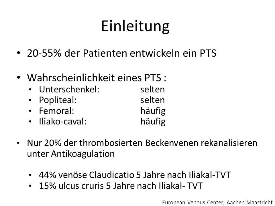 Einleitung 20-55% der Patienten entwickeln ein PTS