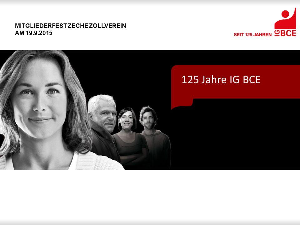 Mitgliederfest Zeche Zollverein am 19.9.2015