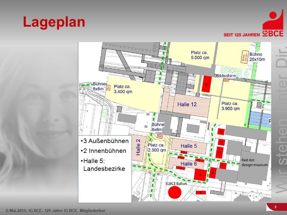 Lageplan 3 Außenbühnen 2 Innenbühnen Halle 5: Landesbezirke