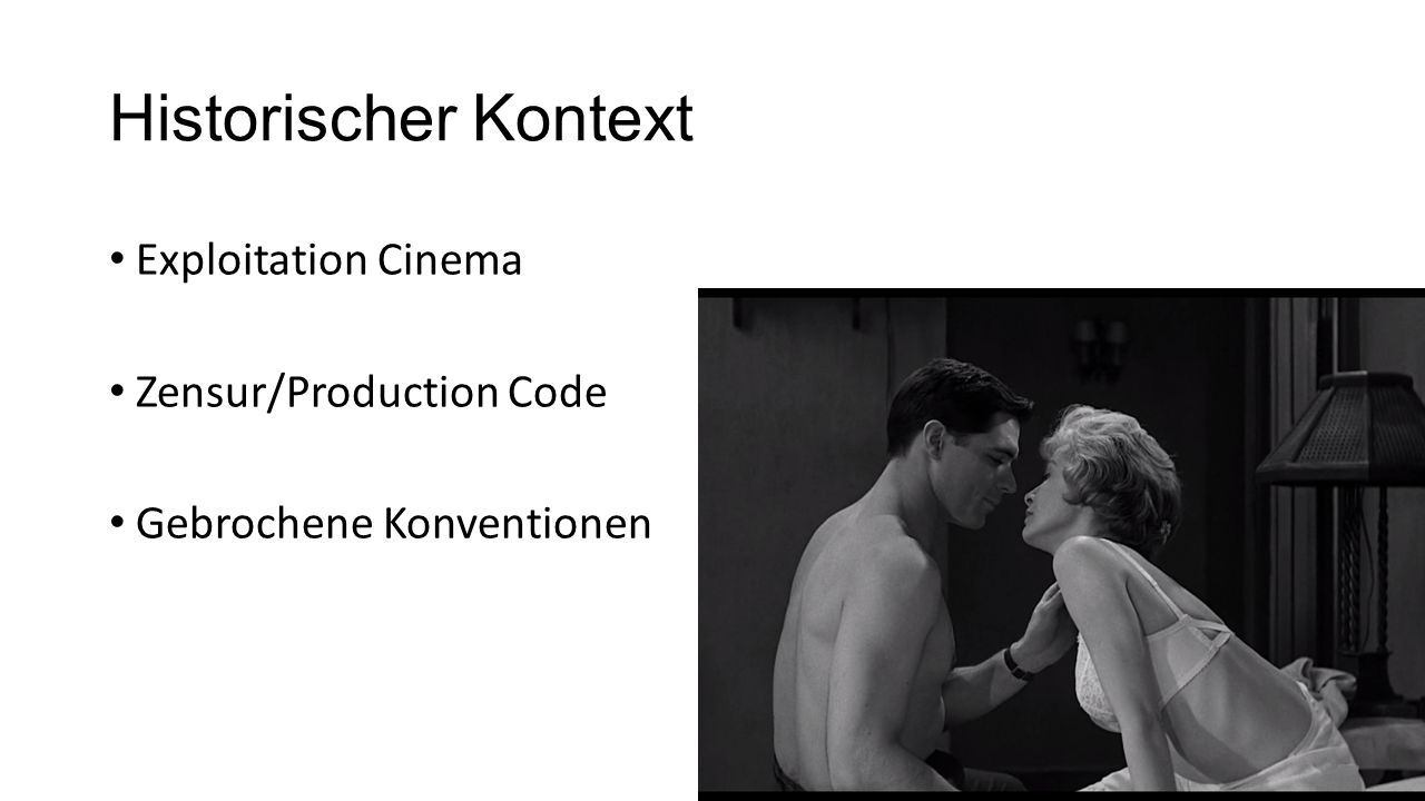 Historischer Kontext Exploitation Cinema Zensur/Production Code