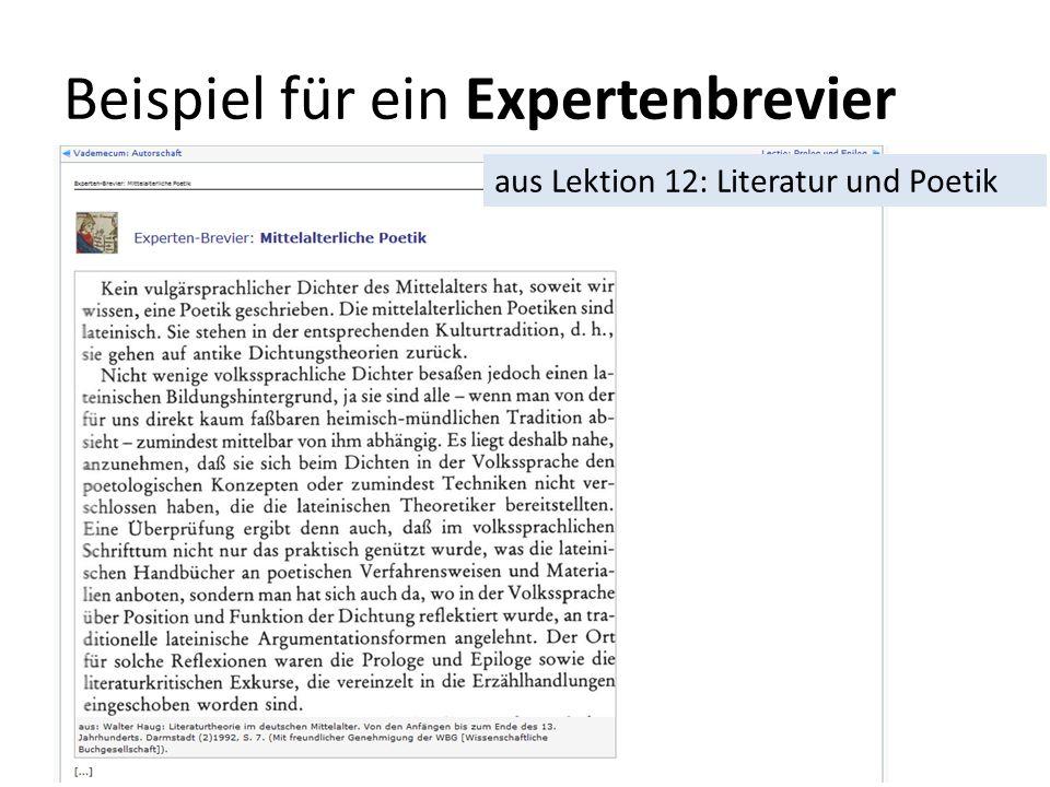 Beispiel für ein Expertenbrevier