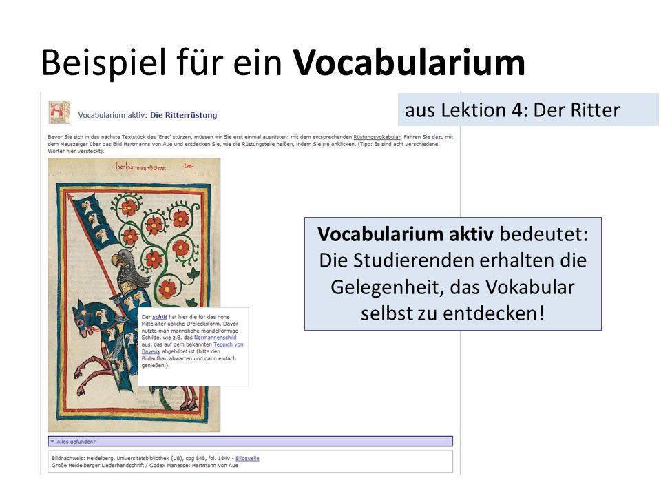 Beispiel für ein Vocabularium