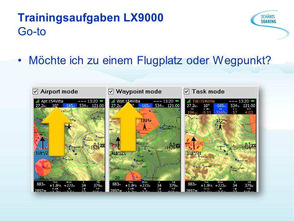 Trainingsaufgaben LX9000 Go-to