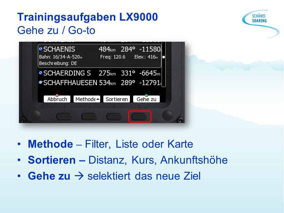 Trainingsaufgaben LX9000 Gehe zu / Go-to