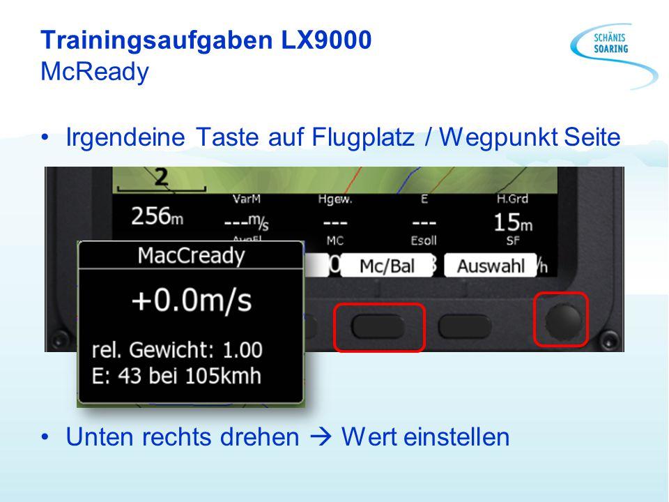 Trainingsaufgaben LX9000 McReady