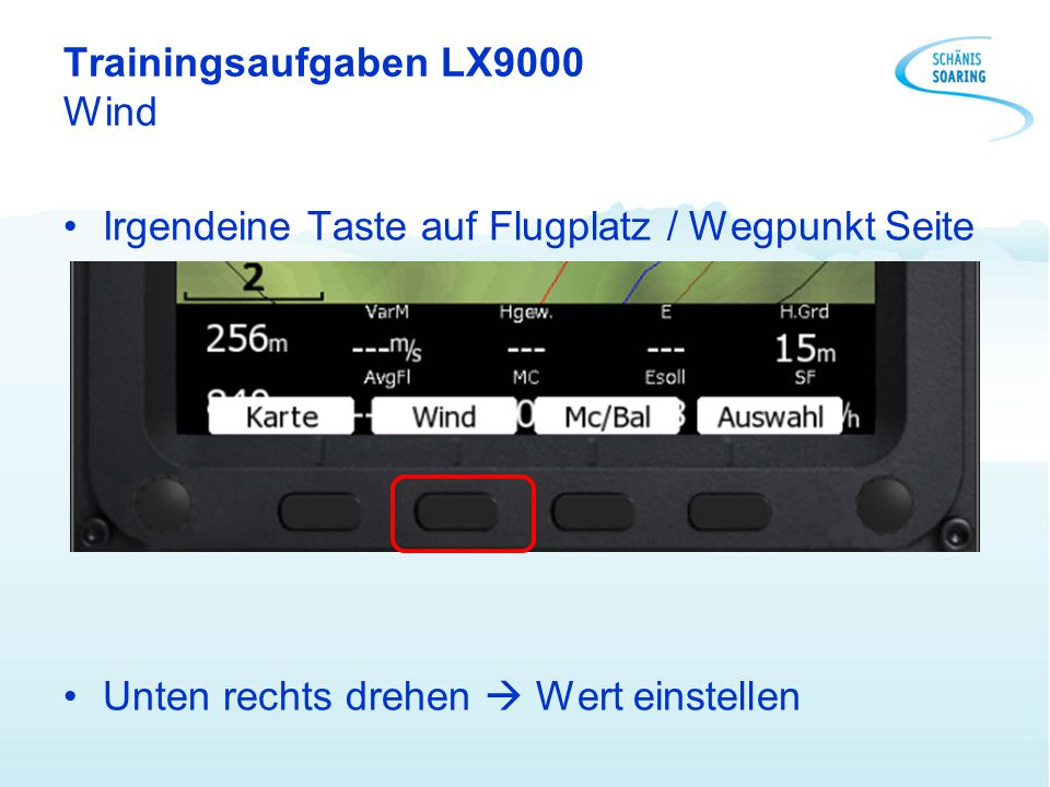 Trainingsaufgaben LX9000 Wind